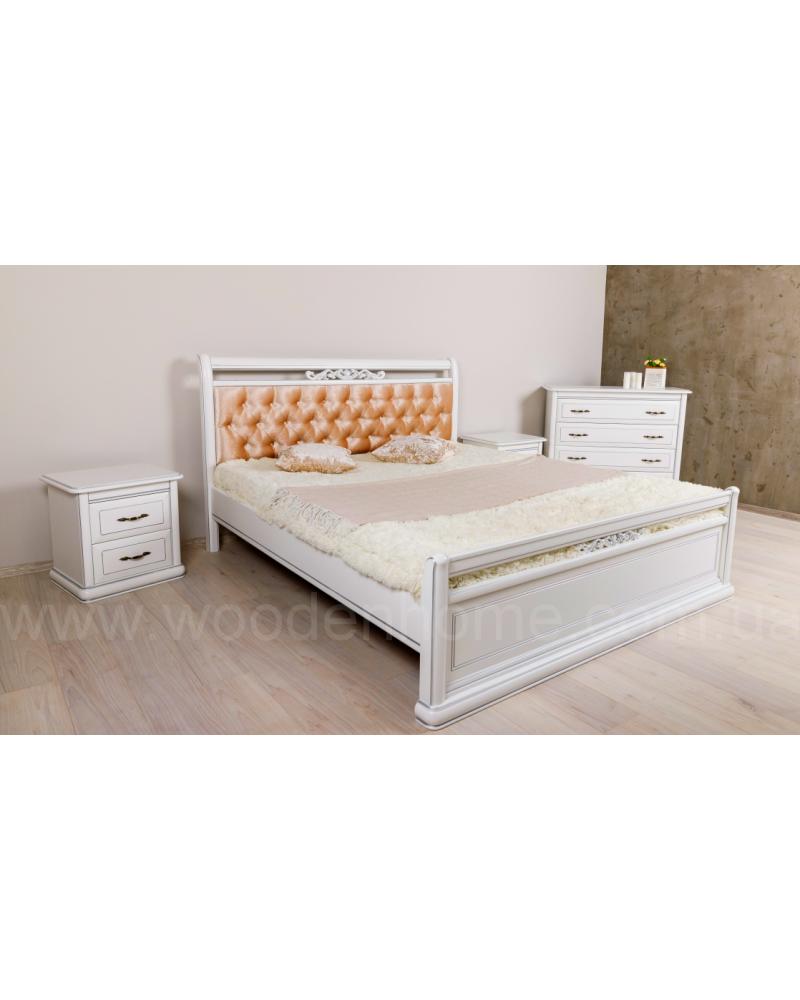 Кровать двуспальная из ясеня
