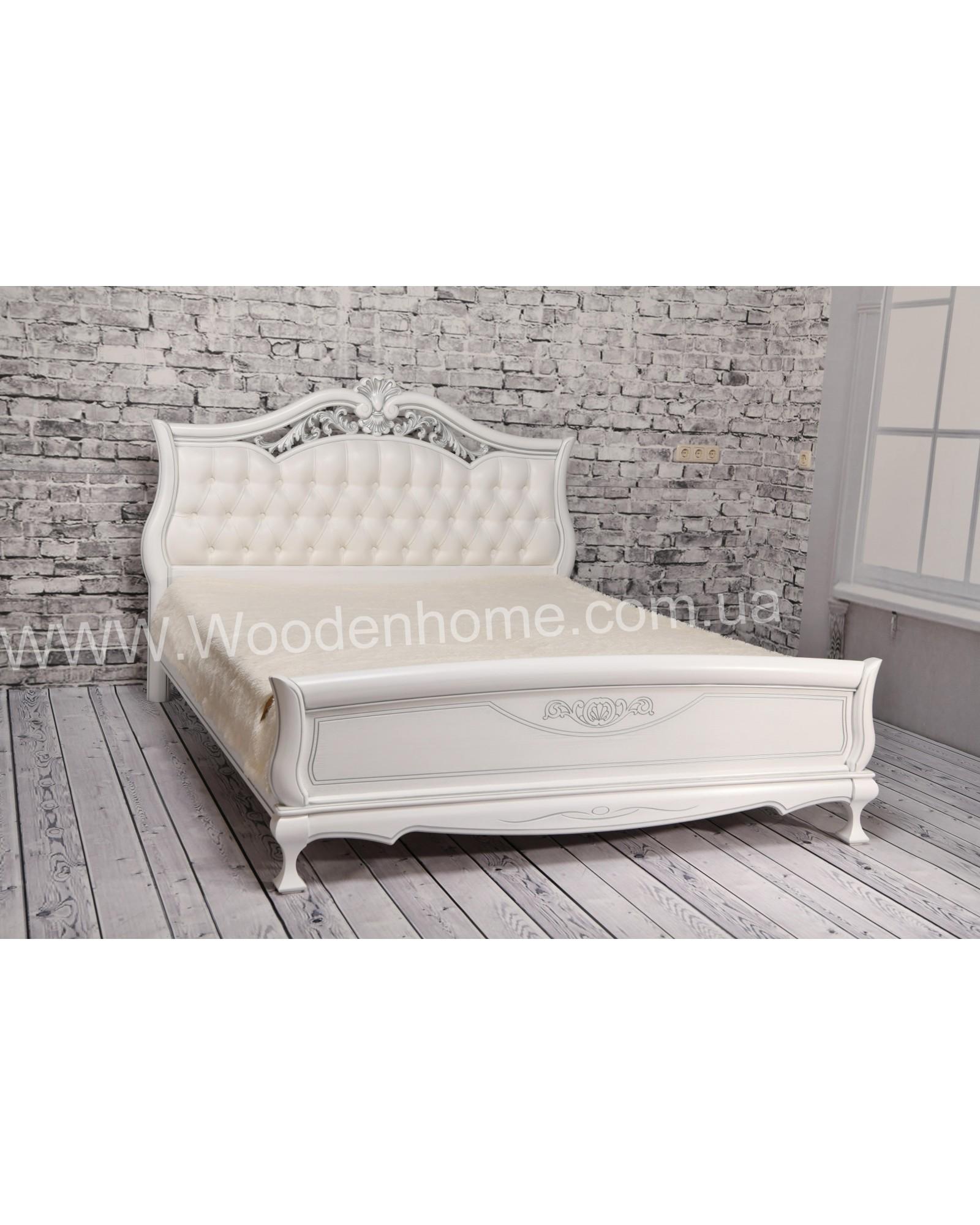 Кровать Белая с Патиной