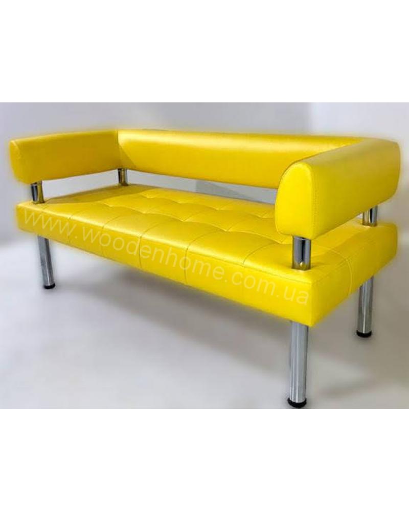 Диван угловой офисный жёлтый