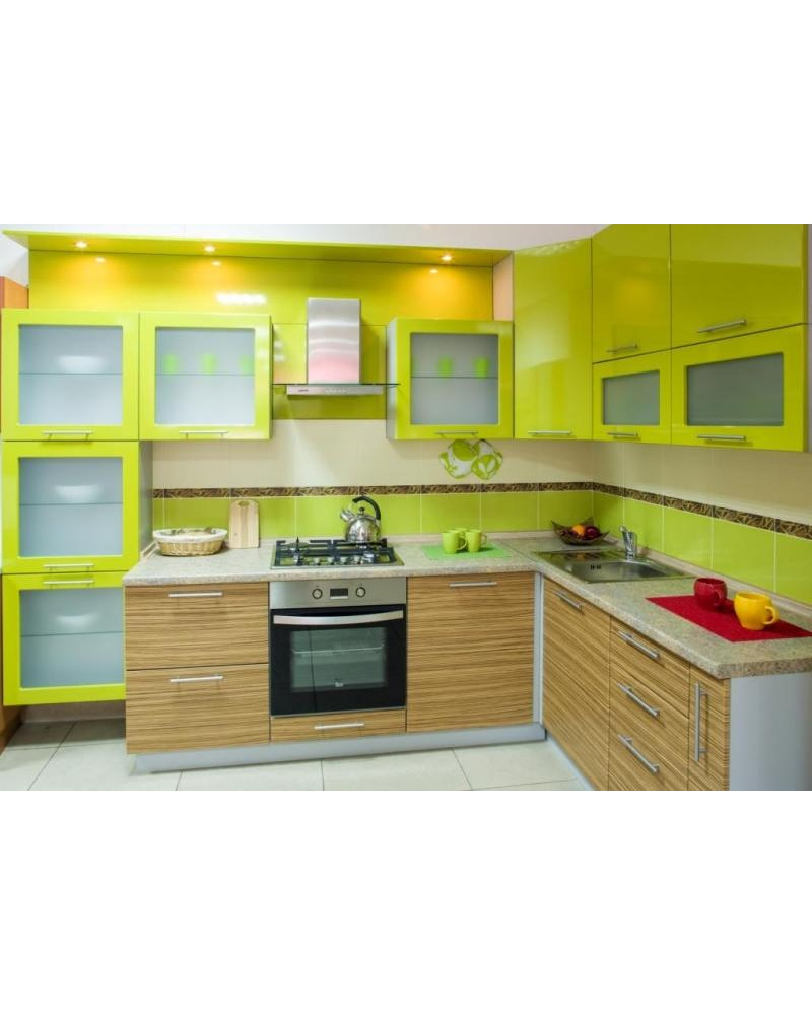 Кухня фасад МДФ Угловая с Освещением 305