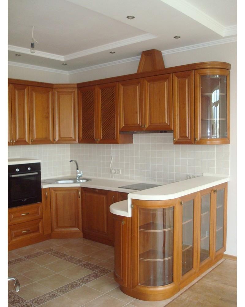 Кухня из масива Ольха Угловая 357