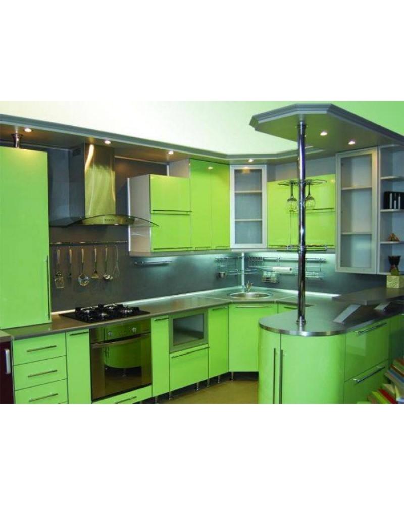Кухня фасад МДФ П-образная 008