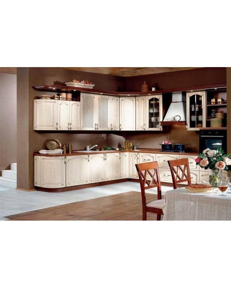 Кухня из массива ясеня Угловая 035