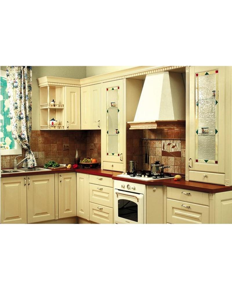 Кухня из массива ясеня Угловая 037