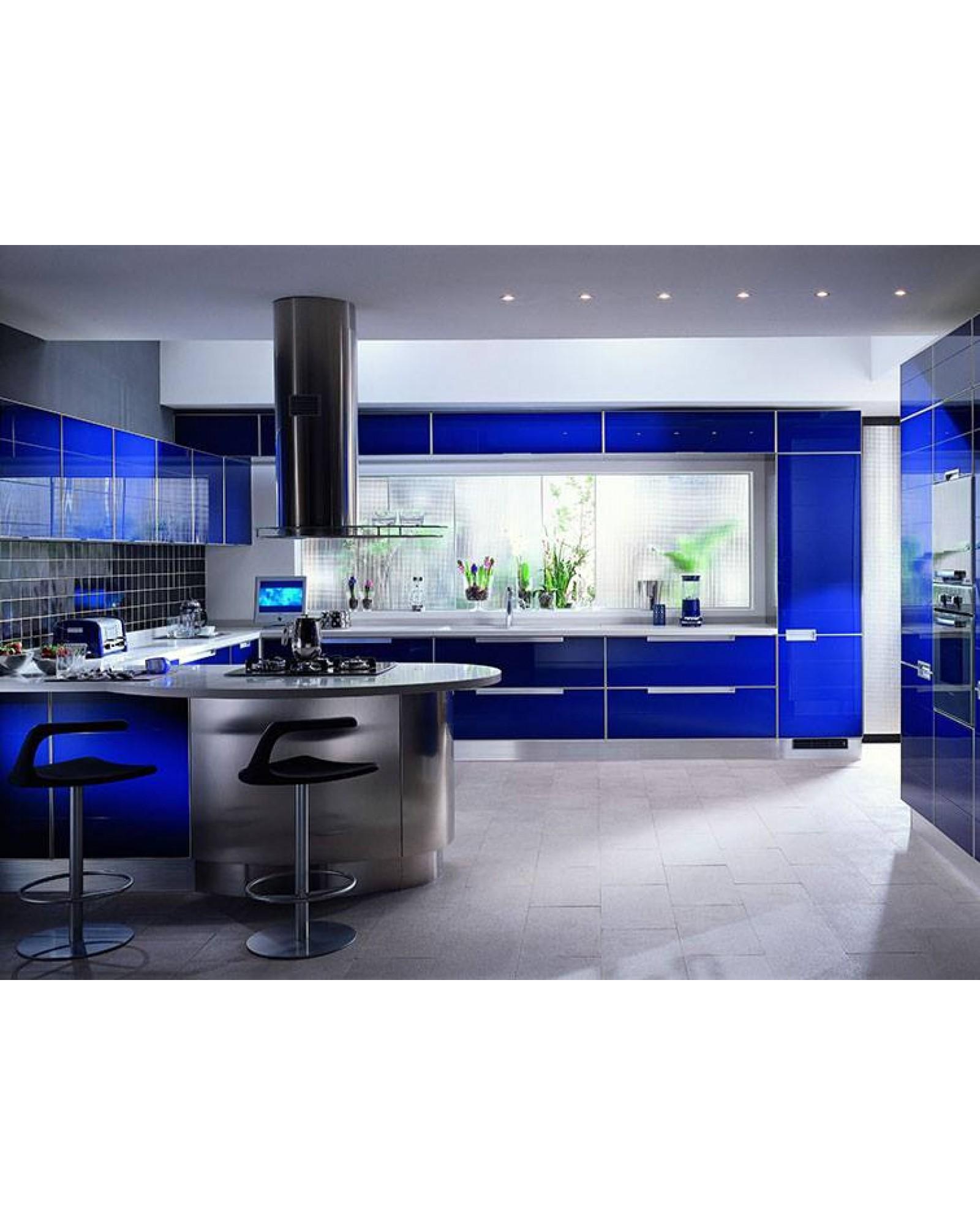 Кухня фасад МДФ П-образная 038