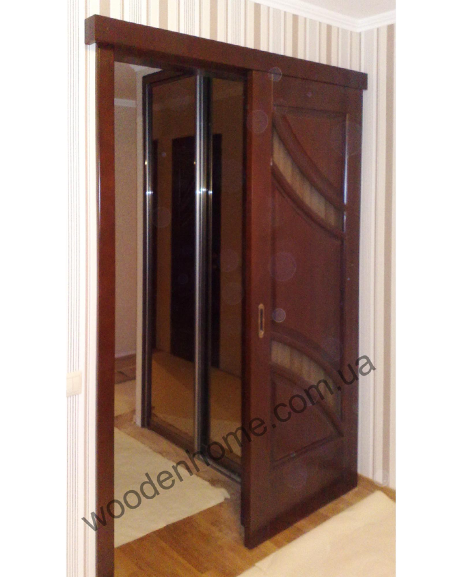 Двери деревянные раздвижные Экзотика
