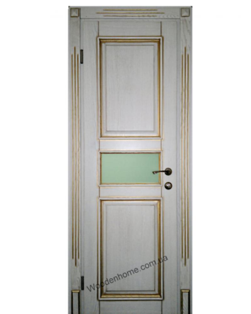 Двери из ясеня с золотистой патиной 13.20