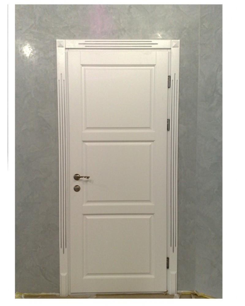 Двери из ясеня с серебристой патиной
